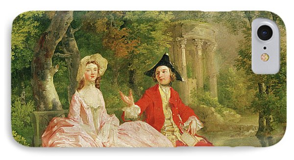 Conversation In A Park IPhone Case by Thomas Gainsborough