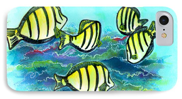 Convict Tang Fish #209 Phone Case by Donald k Hall