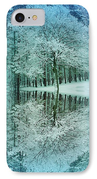 Cool Blue Winter Reflection IPhone Case