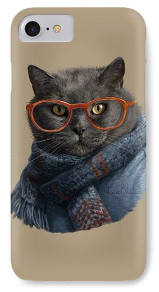 Cool Cat IPhone Case by Lucie Bilodeau