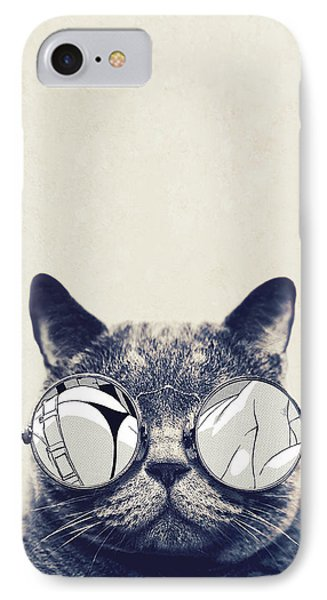 Cool Cat IPhone Case by Vitor Costa