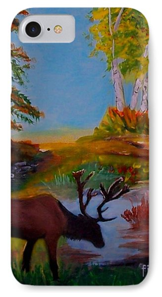IPhone Case featuring the painting Cool Drink by Leslie Allen