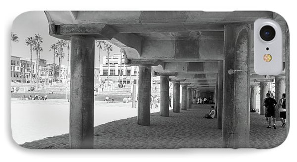 Cool Off In The Shade Of The Pier IPhone Case by Ana V Ramirez
