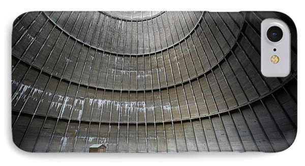 IPhone Case featuring the photograph Cooling Tower Secret Little House by Dirk Ercken