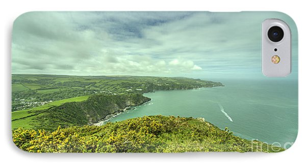 Combe Martin Panorama IPhone Case by Rob Hawkins