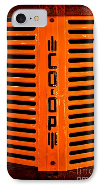 Coop Tractor Grille  IPhone Case by Olivier Le Queinec