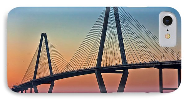Cooper River Bridge Sunset IPhone Case by Suzanne Stout