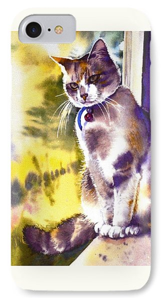 IPhone Case featuring the painting Coops The Cat by Sandra Phryce-Jones