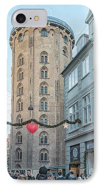 IPhone Case featuring the photograph Copenhagen Round Tower Street View by Antony McAulay