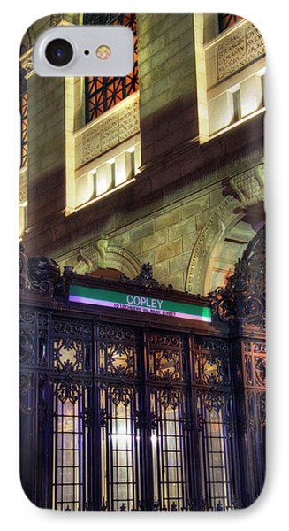 IPhone Case featuring the photograph Copley Square T Stop - Boston by Joann Vitali