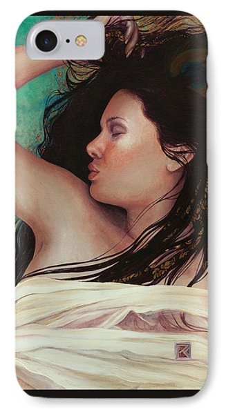 IPhone Case featuring the painting Copper Dreamer by Ragen Mendenhall