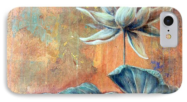 Copper Lotus IPhone Case by Ashley Kujan
