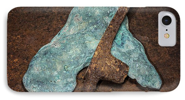 Copper Nugget Rock Hammer IPhone Case