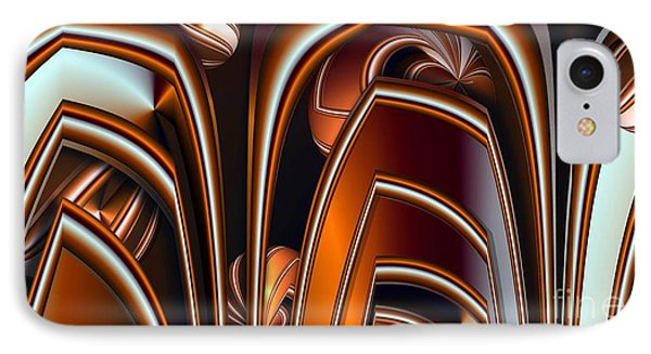 Copper Shields IPhone Case by Ron Bissett