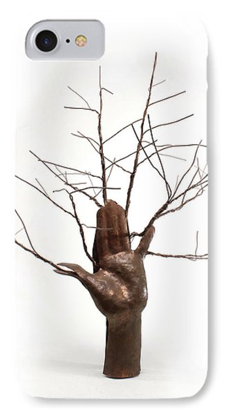 Copper Tree Hand A Sculpture By Adam Long Phone Case by Adam Long