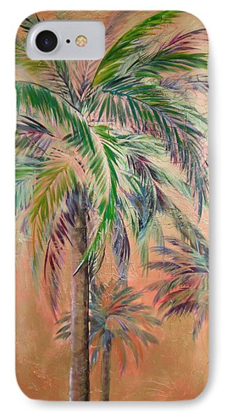 Copper Trio Of Palms IPhone Case by Kristen Abrahamson