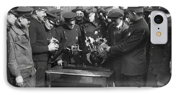 Cops Learn Motorcycle Engines IPhone Case by Underwood Archives