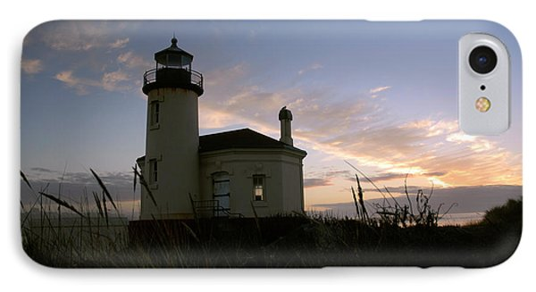 Coquille River Lighthouse At Sunset IPhone Case