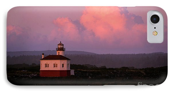 Coquille River Lighthouse Sunset IPhone Case