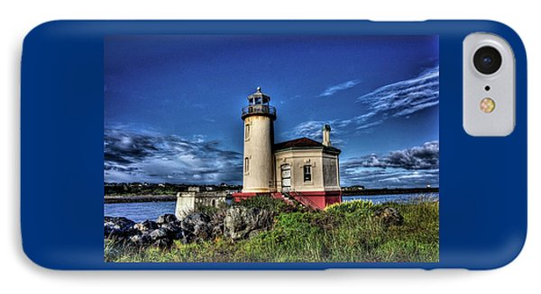 IPhone Case featuring the photograph Coquille River Lighthouse by Thom Zehrfeld