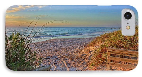 Coquina Beach By H H Photography Of Florida  IPhone Case by HH Photography of Florida