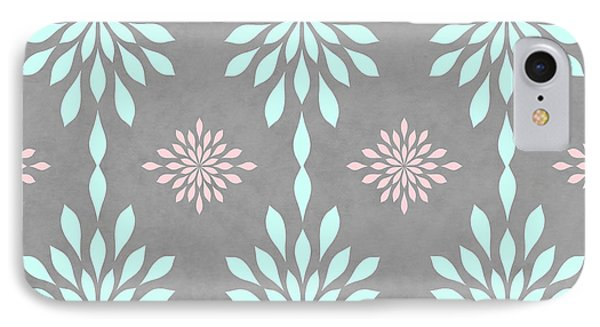 Coral And Turquoise Gray IPhone Case by Inspired Arts