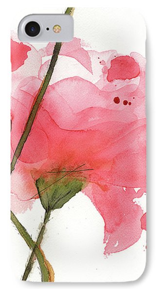 IPhone Case featuring the painting Coral Poppies by Dawn Derman