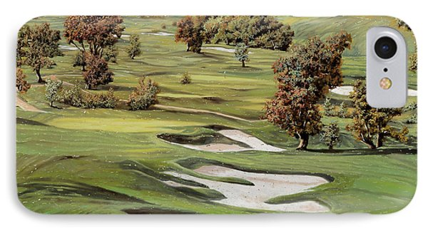 Golf iPhone 7 Case - Cordevalle Golf Course by Guido Borelli