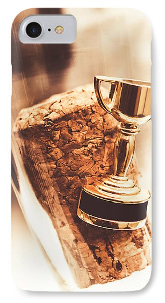 Cork And Trophy Floating In Champagne Flute IPhone Case