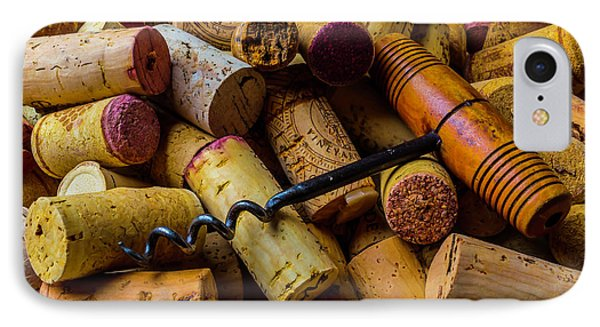 Corks And Corkscrew IPhone Case by Garry Gay