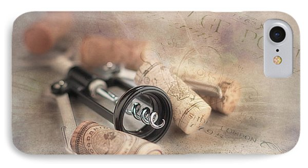 Corkscrew And Wine Corks IPhone Case by Tom Mc Nemar