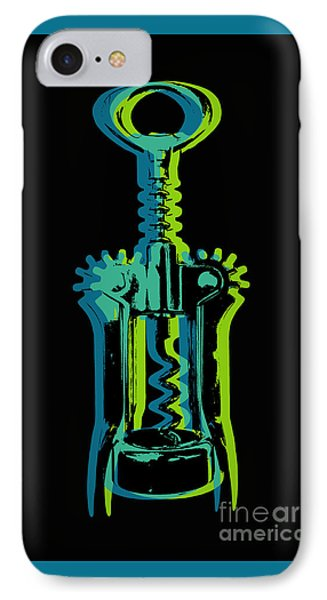 IPhone Case featuring the digital art Corkscrew by Jean luc Comperat