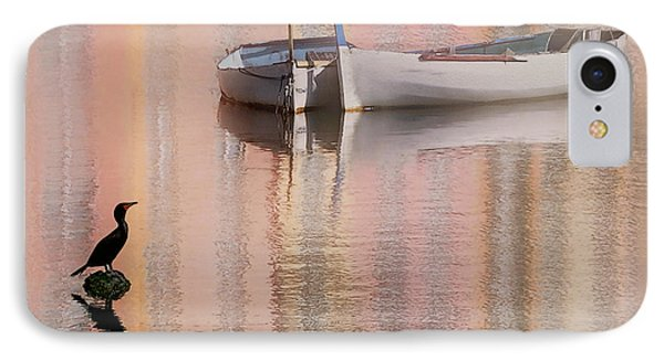 IPhone Case featuring the photograph Cormorant And Boats by Joe Bonita