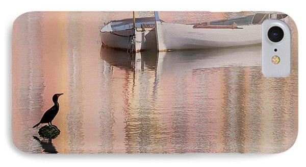 Cormorant And Boats IPhone Case by Joe Bonita