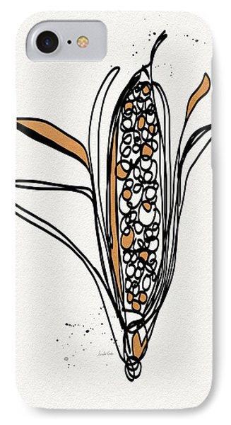 corn- contemporary art by Linda Woods IPhone Case