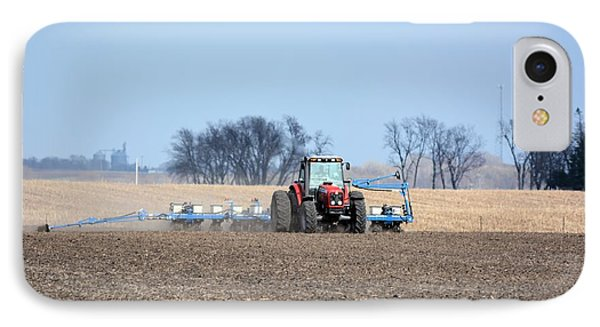 Corn Planting IPhone Case by Bonfire Photography