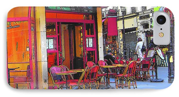 Corner Cafe In Montmartre Paris IPhone Case by Jan Matson