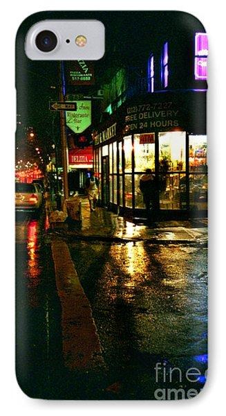 Corner In The Rain IPhone Case by Miriam Danar