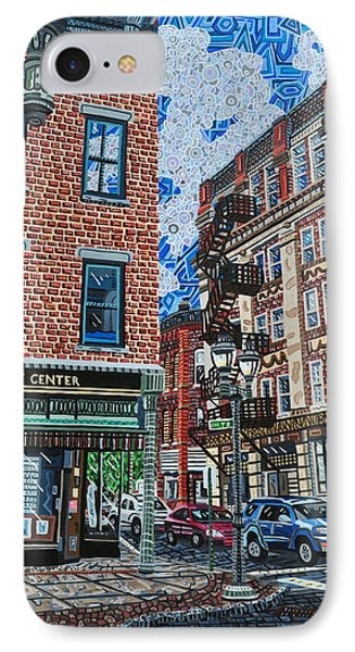 Corner Of Dietz And Main Oneonta Ny Phone Case by Micah Mullen