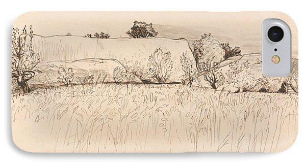 Cornfields With Barn, Shoreham IPhone Case