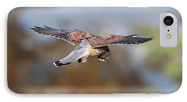IPhone Case featuring the photograph Cornish Kestrel Hunting by Nicholas Burningham