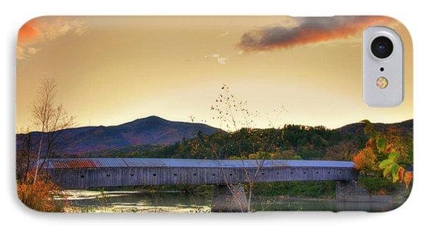 Cornish Windsor Covered Bridge In Autumn IPhone Case