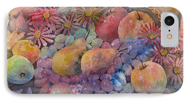 Cornucopia Of Fruit IPhone Case by Arline Wagner
