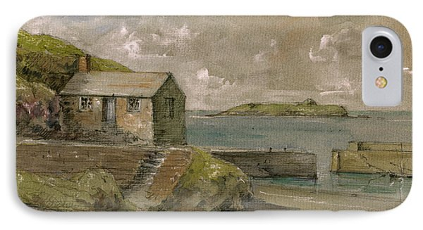 Cornwall Mullion Cove Harbour Lizard -english Channel - IPhone Case by Juan  Bosco