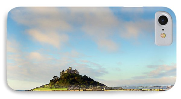 Cornwall Tourist Attraction St Michaels Mount Cornwall England Uk Medieval Castle IPhone Case