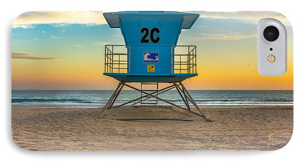 Coronado Beach Lifeguard Tower At Sunset IPhone Case by James Udall