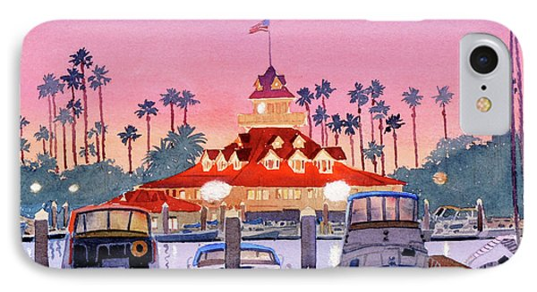 Coronado Boathouse After Sunset IPhone Case by Mary Helmreich