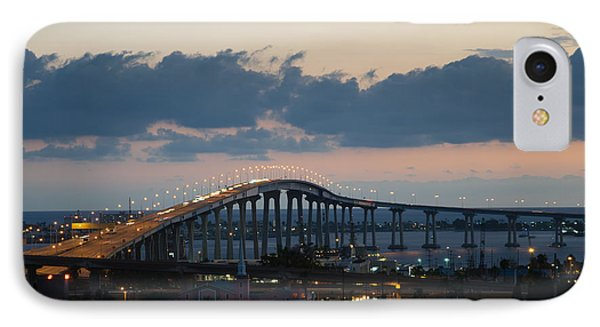 Coronado Bridge At Twilight IPhone Case by Robert VanDerWal