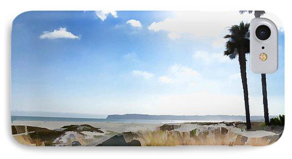 Coronado - Digital Painting IPhone Case by Sharon Soberon