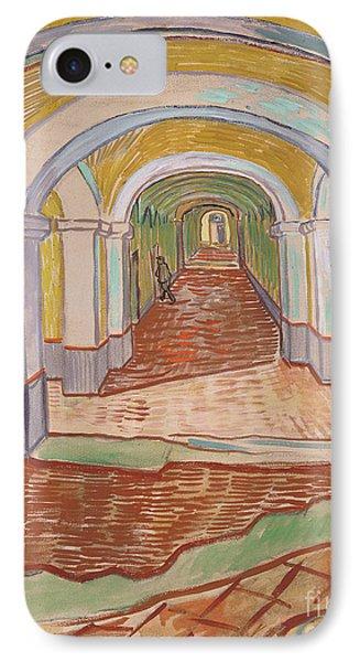 Corridor In The Asylum, September 1889 IPhone Case by Vincent van Gogh